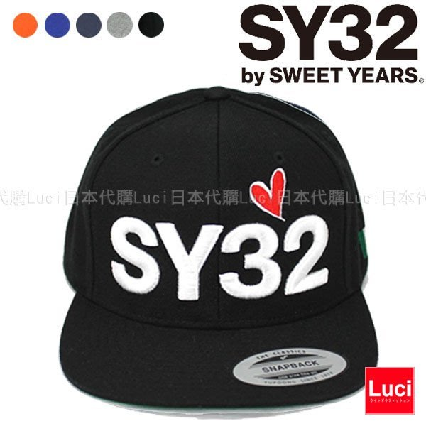 SY32 by SWEET YEARS 老帽 棒球帽 小帽 LOGO CAP 滑板帽  LUCI日本代購空運