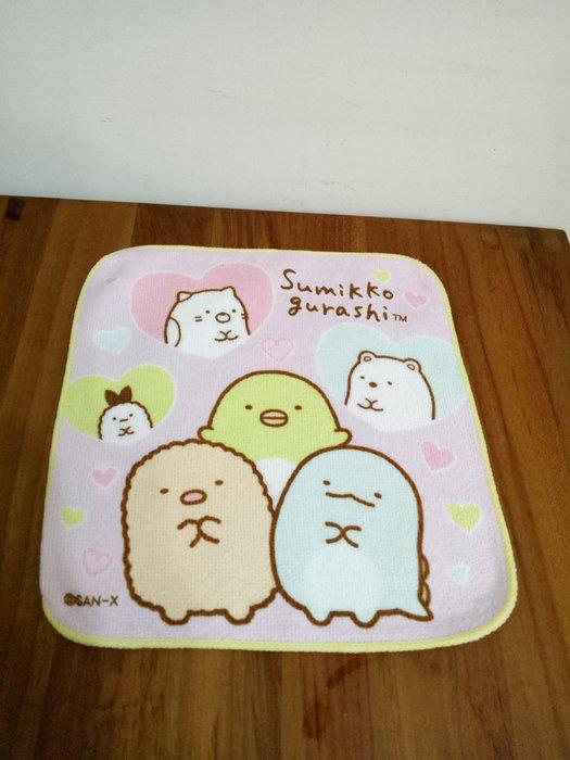 天使熊雜貨小鋪~日本帶回角落生物手帕 純棉方巾 全新現貨