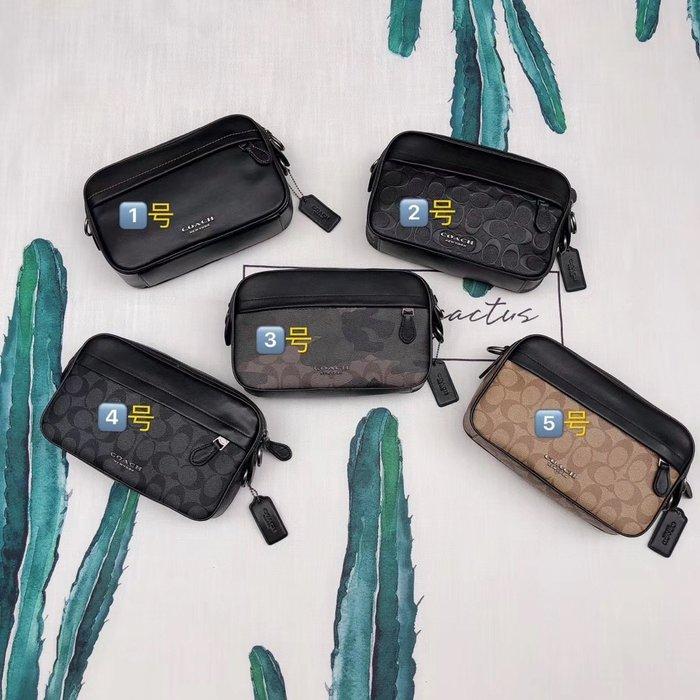 NaNa代購 COACH 39946 50713 50715 67326 男士新款全皮相機包 單肩斜跨包 胸包 潮流時尚