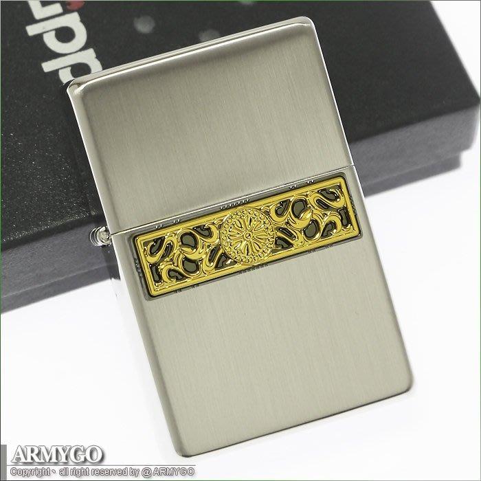 【ARMYGO】ZIPPO原廠打火機-日系-雙底刻設計系列 - 銀色款