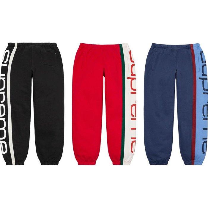 【紐約范特西】預購 Supreme FW20 Big Logo Paneled Sweatpant 休閒褲