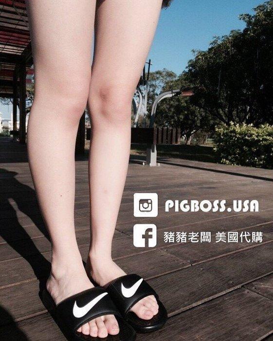 【豬豬老闆】NIKE BENASSI SWOOSH【現貨】黑底 白勾 大LOGO 拖鞋 男女 312618-011