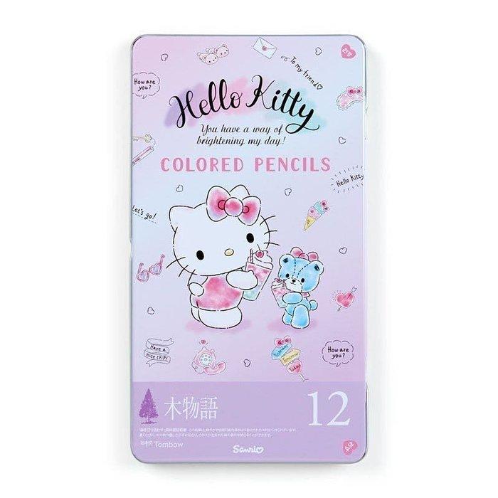 Hello Kitty 鐵盒裝12色鉛筆組《紫.彩色熊》塗鴉筆.彩繪筆