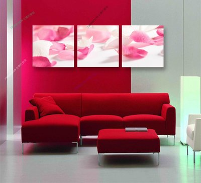 【40*40cm】【厚1.2cm】花瓣-無框畫裝飾畫版畫客廳簡約家居餐廳臥室牆壁【280101_463】(1套價格)