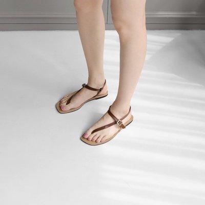 現貨24.25  Bellee  正韓  柔軟人造皮革扣式涼鞋  (8色)   23-25 【J63007】