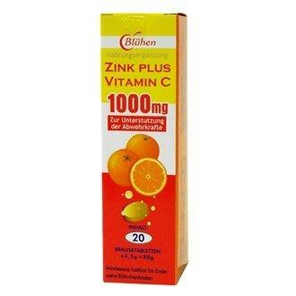 (6支免運組)【專家藥妝】貝斯特 速補美C含鋅發泡錠1000mg-20顆裝(橘盒) - 德國原裝進口,高單位維他命C+鋅