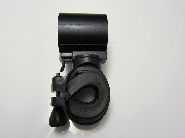 砲管型 可旋轉 燈架 腳踏車 車夾 車架 燈架 手電筒夾具 L2 Q5 R5 T6 18650