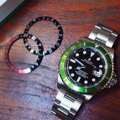 ROLEX 16610LV 勞力士綠水鬼 50週年紀念款 黑面橄欖綠外圈 平頭4 MK1 最稀有Y字頭 盒單配件全套齊