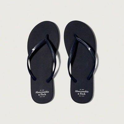美國 Abercrombie & Fitch Rubber Flip Flops 女拖鞋 夾腳拖 人字拖 XS號 S號