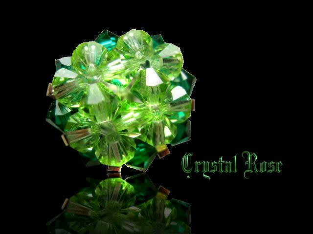 ※水晶玫瑰※ SWAROVSKI 水晶戒指~深淺綠(HAND15)