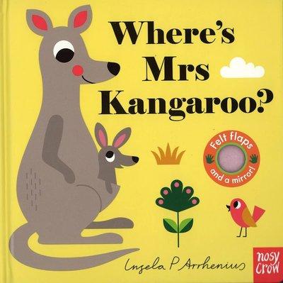 *小貝比的家*WHERE'S MRS KANGAROO ?/硬頁不織布翻翻書+小鏡子/3~6歲