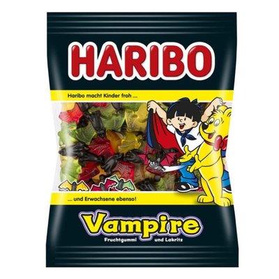 德國haribo小熊糖彩色雙色蝙蝠水果軟糖 200g