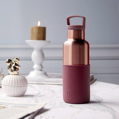 (限時2件88折免運) 美國HYDY|CinCin Déco Collection 酒紅-蜜粉金瓶 480ml