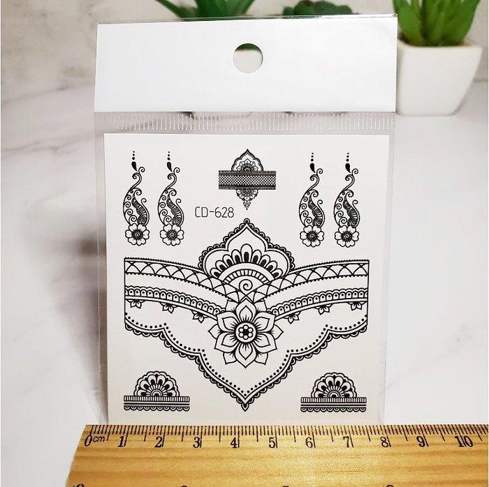 【萌古屋】印度風手指手挽圖騰 - 防水紋身貼紙刺青貼紙CD-628 K12