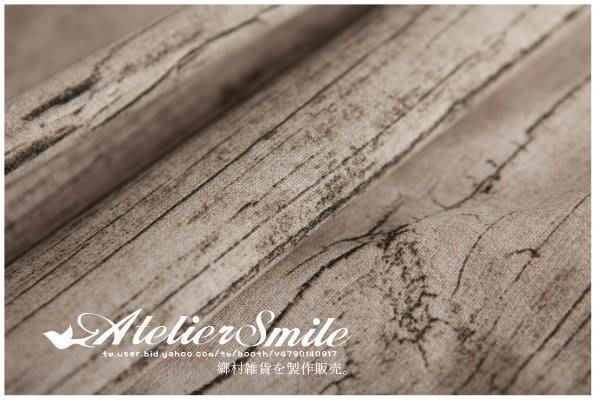 [ Atelier Smile ] 鄉村雜貨 仿舊木紋棉麻桌布 拍攝背景 道具 裝飾  100*150 (現貨)
