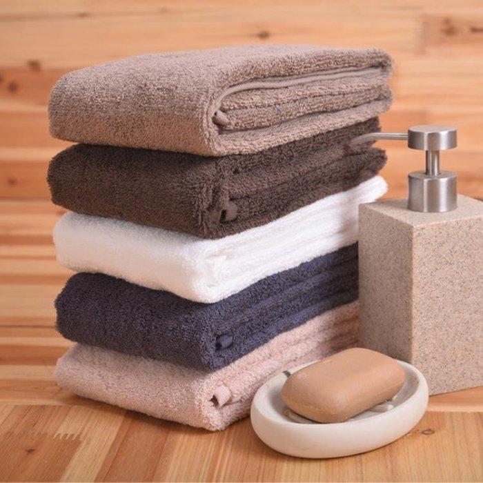 日式毛巾長洗澡方巾吸水簡約素色長面巾浴巾