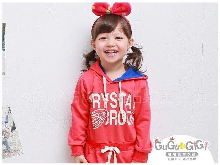 【RG2111516】秋冬款~CRYSTAL ROCK腰綁帶連帽紅色洋裝$68
