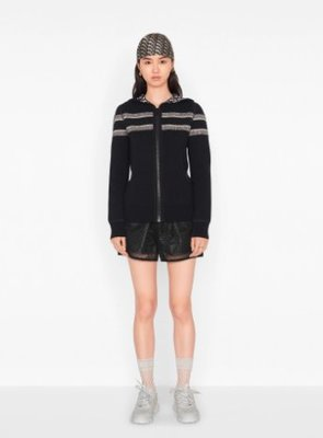 DIOR REVERSIBLE ZIPPED CARDIGAN WITH HOOD