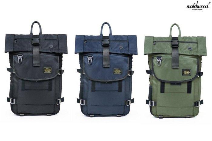 { POISON } MATCHWOOD RIDER 軍規防水緞面 軍事風格後背包 17吋筆電夾層 強化五金扣具
