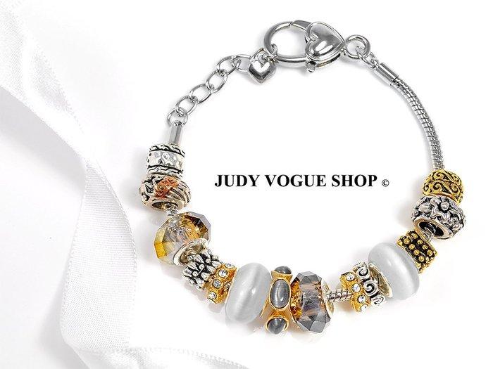 潘朵拉元素手鍊 韓國 民族風格個性時尚手鍊 琉璃貓眼石手環 JUDY VOGUE SHOP【JBS-0014】