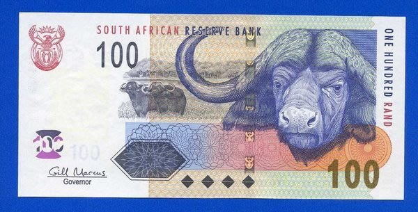 [珍藏世界]南非2009年100元P131全新品相