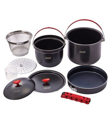 (現貨)Coleman CM-26764 硬鋁鍋具組/套鍋組 硬鋁不沾鍋/戶外炊事鍋/露營萬用鍋