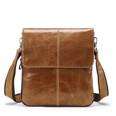 ✻美人魚的秘密✻男仕館 免運MP-L3014 真頭層牛皮 瘋馬皮 歐美休閒 單肩背包 側背包 小包包背包