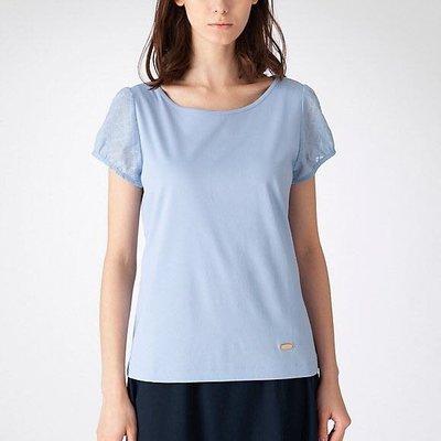 預購 日本限定 Blue  Label crestbridge 正版 清新優雅 格紋 透紗 公主袖 設計 純棉 上衣