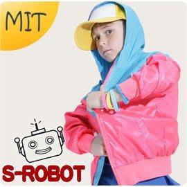 台灣製造/防曬遮陽薄外套/粉色+藍色連帽薄風衣外套(附抗UV布料證明書)/適穿115~170cm夏天薄外套/孩子王童裝