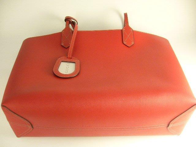 [吉宏精品交流中心]GUCCI 368568 PVC 防水 紅色 双G 肩背包 双面包(中)