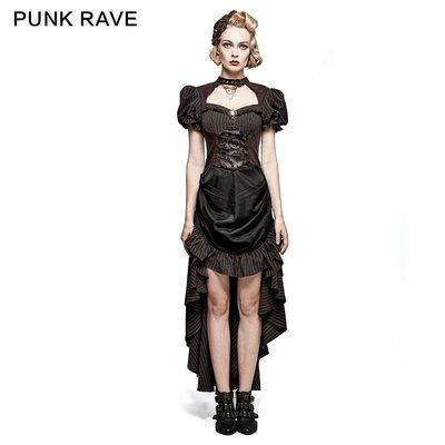 beauty女孩 PUNK RAVE 朋克狀態女裝 維多利時代復古蒸汽工業燒花齒輪連身裙