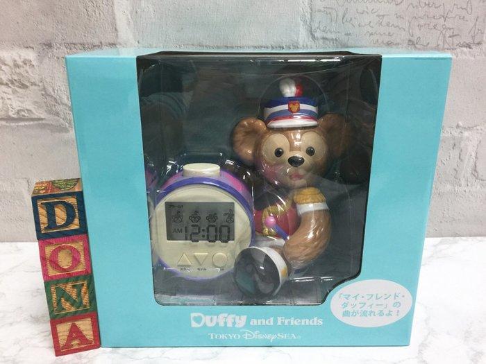 【Dona日貨】日本迪士尼海洋限定 35周年duffy達菲熊樂隊服裝 時鐘/鬧鐘 A18