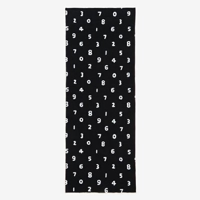 [現貨35*90公分] 京都 SOU SOU  伊勢木棉 生地/布料 - 黑色數字 #口罩布