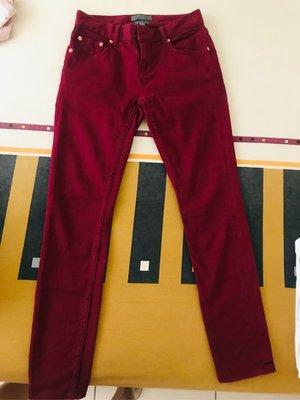Ted baker酒紅色直筒長褲