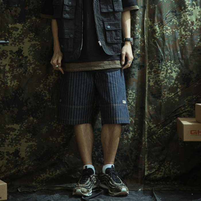 GHK Veteran Collection Denim Shorts 藍色丹寧