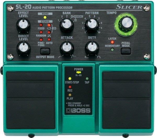 ☆ 唐尼樂器︵☆全新 BOSS SL-20 Slicer 電吉他 Bass 雙踏板 單顆效果器 調變系 SL20