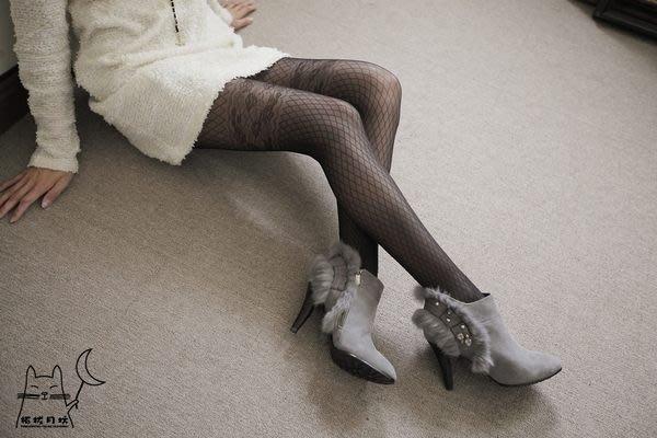 【拓拔月坊】日本製 MORE  秋冬 大腿 玫瑰蕾絲網格狀褲襪 現貨!