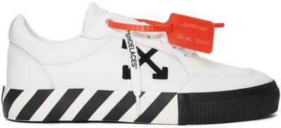 ~The Black Dan Moccani~ [新款] OFF-WHITE Vulcanized 皮質低筒球鞋/小白鞋