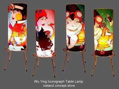 iceland ~ 烏蠅系列四腳圓筒桌燈 設計燈飾 (自取賠錢賣NT$1990,買到賺到)