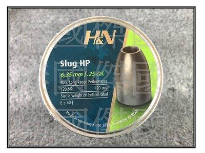 H&N 6.35MM 28GR SLUG HP / .25 cal. 鉛彈喇叭彈PCP