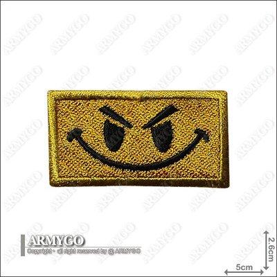 【ARMYGO】美軍 微笑勇士 繡章 (黃色款)