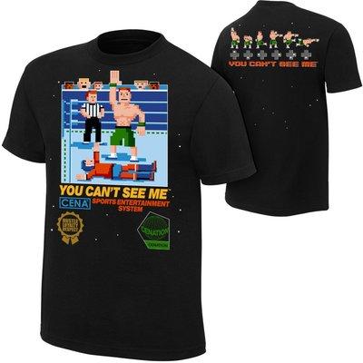 ☆阿Su倉庫☆WWE摔角 John Cena 8-Bit Retro T-Shirt Cena 8位元遊戲復刻版 熱賣