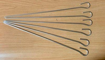 【信福璇律】名仕 正304不鏽鋼 烤針-單支 燒串 30cm 經SGS檢驗 烤肉串 燒烤針 鴨尾針 燒肉串 肉針 叉子