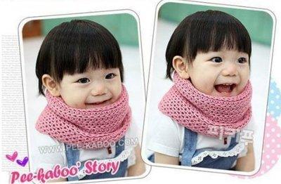 (現貨) 針織素色毛線圍脖 保暖圍巾 [顏色分類 :  粉色]