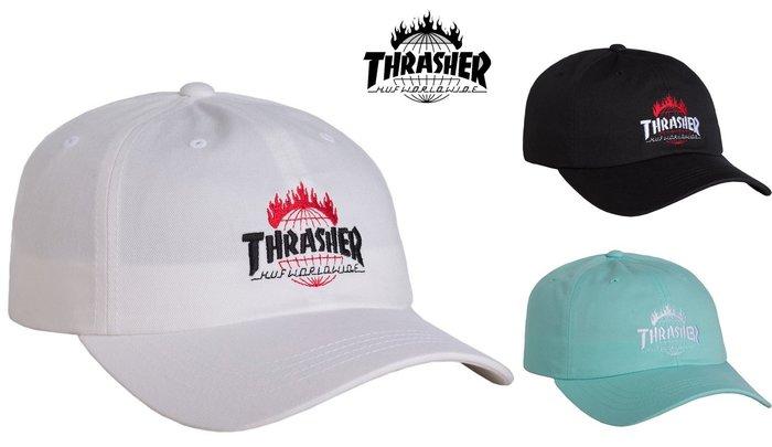 【超搶手】 全新正品 美牌 聯名 HUF x THRASHER TDS CURVE VISOR 6 PANEL 彎帽老帽