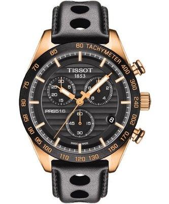 TISSOT PRS516 三眼計時石英腕錶(T1004173605100)-黑/42mm