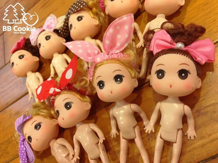 「BB Cookie森林手作」蛋糕裝飾 娃娃 芭比娃娃 迷糊娃娃 泡澡娃娃 12cm 全新 預購 不挑款