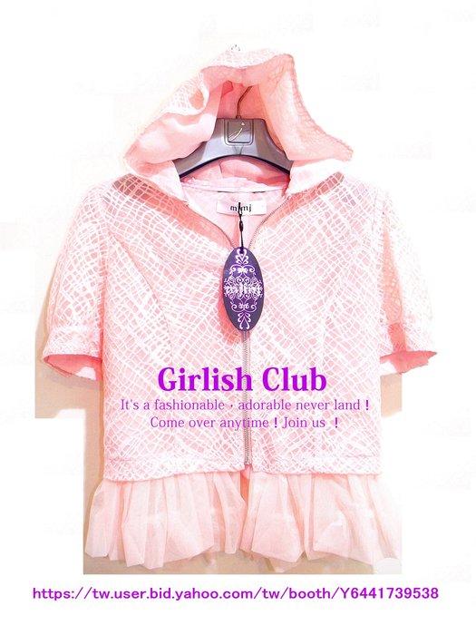 【Girlish Club】專櫃MJMJ小美仁連帽拉鍊外套11號吊牌7680(m1050)夏姿貝爾尼尼萊卡佛三六一元起標