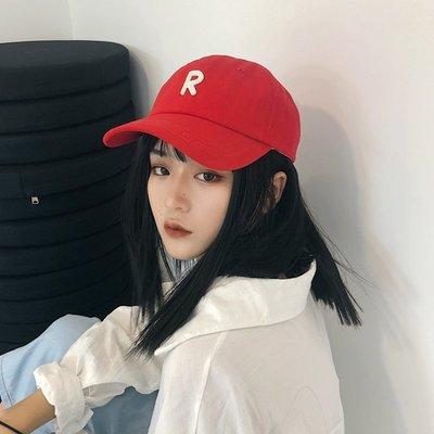 夏季必備 帽子 帽子女韓版ins字母貼布棒球帽歐美街頭學生休閑百搭彎檐鴨舌帽潮