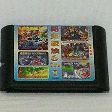 Rockman Megaworld 洛克人 6 IN 1 遊戲卡帶匣~測試正常